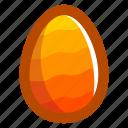 easter, easteregg, egg, food, pattern, waves, yellow