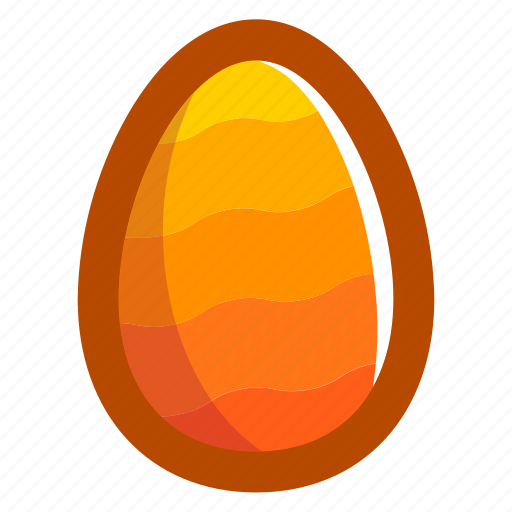 easter, easteregg, egg, food, pattern, waves, yellow icon