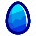 blue, easter, easteregg, egg, food, zag, zig icon