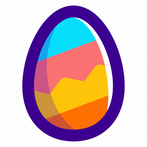 colours, easter, easteregg, egg, food, zag, zig icon