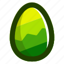 easter, easteregg, egg, food, green, zag, zig icon