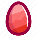 easter, easteregg, egg, food, pattern, pink, zigzag icon