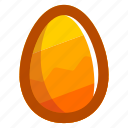 easter, easteregg, egg, food, pattern, yellow, zig-zag icon