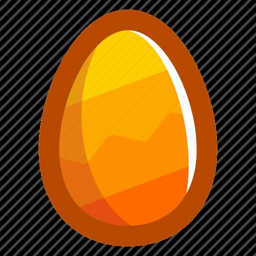 easter, easteregg, egg, food, pattern, yellow, zig-zag icon