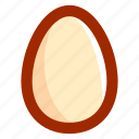 easter, egg, food, yolk icon