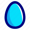 blue, easter, easteregg, egg, food icon