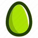 easter, easteregg, egg, food, green icon
