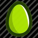 easter, easteregg, egg, food, green