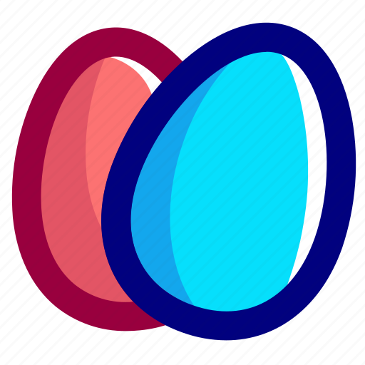 blue, easter, eggs, pink icon
