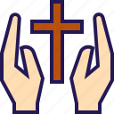 bunny, celebration, cross, easter, egg, holy, rabbit icon