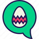 bunny, celebration, chat, easter, egg, message, rabbit icon