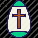 bunny, celebration, cross, easter, egg, rabbit icon