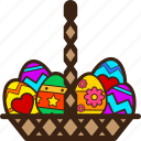 basket, chocolates, easter, egg, eggs, full