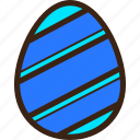 chocolate, decoration, diagonal, easter, egg, stripes icon