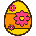 chocolate, decoration, easter, egg, flower icon