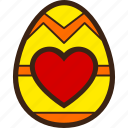 chocolate, decoration, easter, egg, heart icon