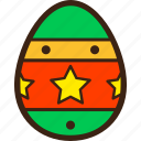 chocolate, decoration, easter, egg, stars icon