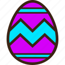 chocolate, decoration, easter, egg, stripes, zigzag icon