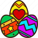 chocolate, decoration, easter, eggs, group icon