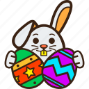 bunny, chocolate, decoration, easter, eggs, rabbit icon