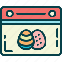 calendar, easter, eggs, holiday
