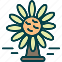 daisies, easter, flowers, vase icon