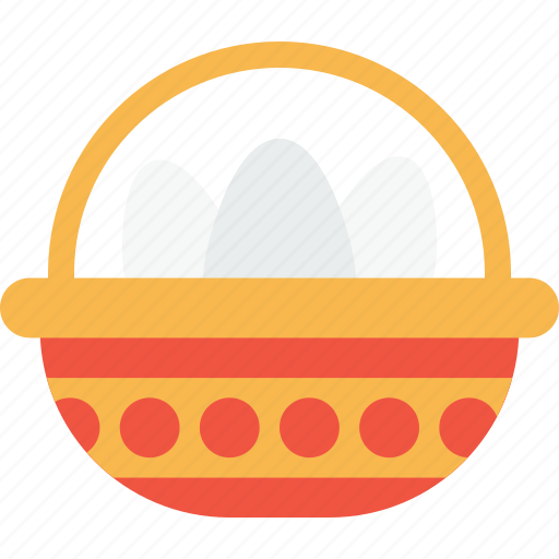 basket, carry, celebration, day, easter, eggs, gift icon