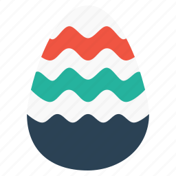 celebration, decorated, easter, egg, food, holiday, striped icon