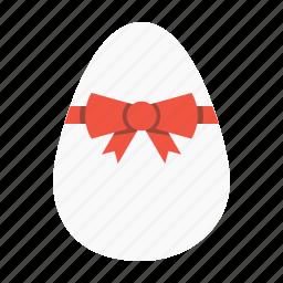 celebration, day, easter, egg, offer, ribbon, shopping icon