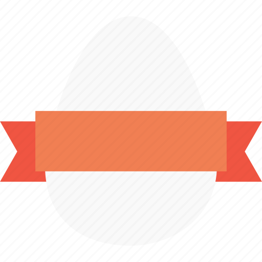 day, easter, egg, label, offer, ribbon, tag icon