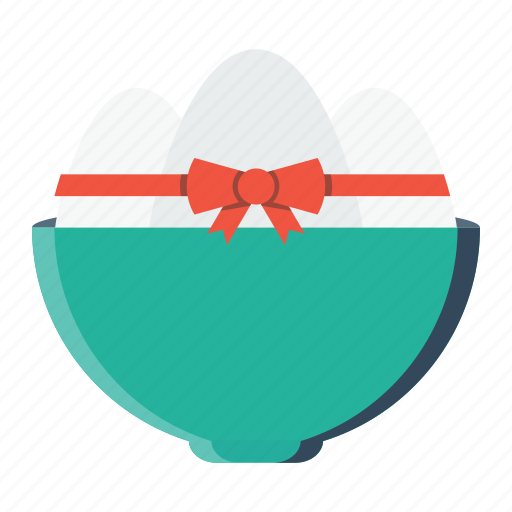 bowl, day, easter, egg, eggs, food, meal icon
