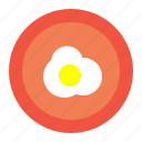 day, dish, easter, egg, food, meal, omlet icon