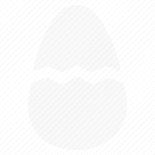 broken, day, easter, egg, food, hatch, shell icon