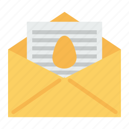 easter, email, greetings, holiday, mail, message, wishes icon