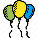 balloon, celebrate, celebration, festival, festive, joy, merry icon