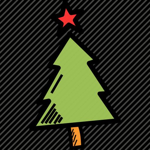celebration, christmas, decoration, easter, star, tree icon