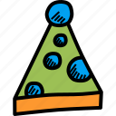 carnival, celebration, clown, cone, fun, merry, party icon