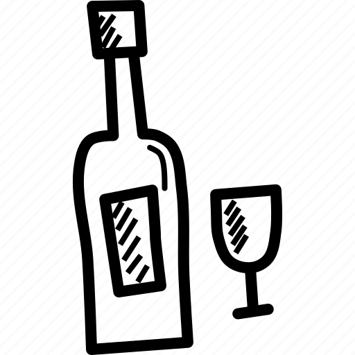 bottle, celebrate, celebration, drink, glass, wine icon