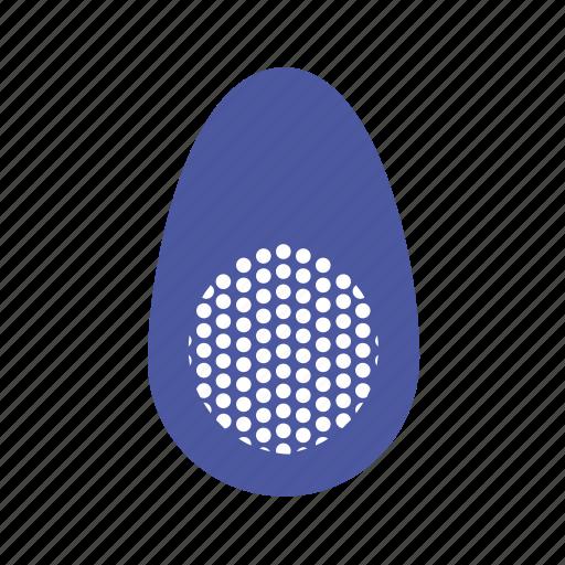 blue, circle, easter, easter egg, egg icon