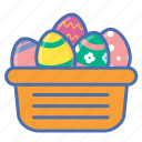 basket, easter, egg, eggs, gift, present, spring icon