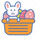 basket, bunny, easter, egg, eggs, gift, present icon
