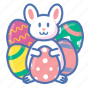 bunny, easter, egg, gift icon