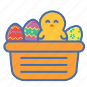 basket, bunny, easter, egg, gift
