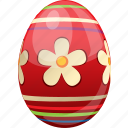 decoration, egg, easter, food, decorated, red