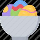 bowl, christianity, dish, easter, egg, holidays icon