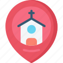 christianity, church, easter, holidays, location, pin icon