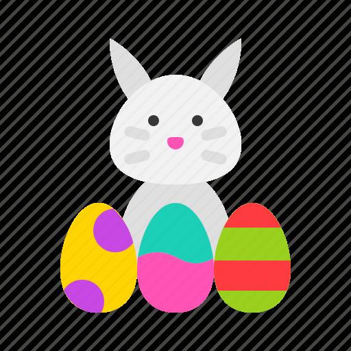 bunny, easter, egg, rabbit icon