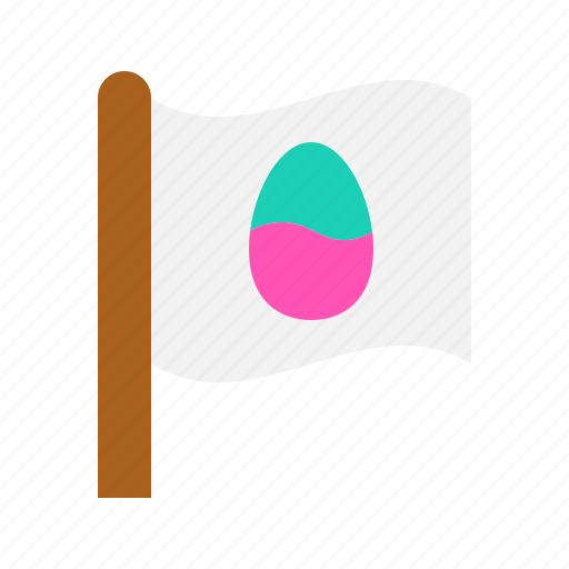 easter, egg, flag, sign icon