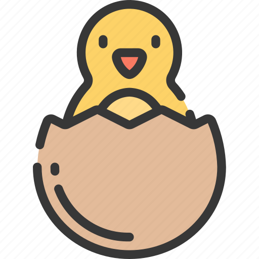 chick, chicken, christianity, easter, hatched, holidays icon