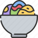 bowl, christianity, dish, easter, egg, holidays icon